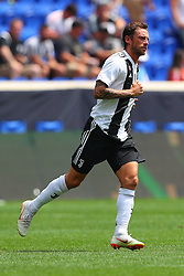 July 28, 2018 - Harrison, NJ, U.S. - HARRISON, NJ - JULY 28:  Juventus midfielder Claudio Marchisio (8) during the second half of the International Champions Cup game between Juventus and Benfica on July 28, 2018 at Red Bull Arena in Harrison, NJ.(Photo by Rich Graessle/Icon Sportswire) (Credit Image: © Rich Graessle/Icon SMI via ZUMA Press)