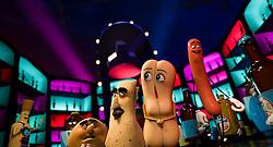 (L to R, center) Sammy (Edward Norton), Lavash (David Krumholtz), Brenda (Kristen Wiig) and Frank (Seth Rogen) in Columbia Pictures' SAUSAGE PARTY.