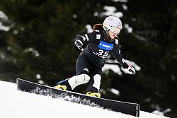 Da-Hae Shin (KOR) competes during Qualification Run of Women's Parallel Giant Slalom at FIS Snowboard World Cup Rogla 2016, on January 23, 2016 in Course Jasa, Rogla, Slovenia. Photo by Ziga Zupan / Sportida