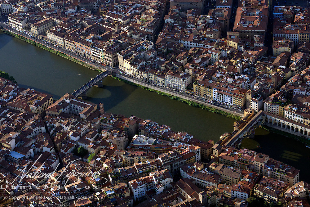 The Arno River splits the Tuscany regions capitol of Florence on it's way to the Mediterranean Sea. Italy