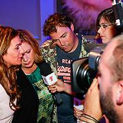 NLD/Hilversum/20130820- Najaarspresentatie RTL 2013, Britt Dekker en Imke Wieringa interviewen Loretta Schrijver, Quinty Trustfull en Casper Burgli