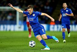 Jamie Vardy of Leicester City - Mandatory by-line: Robbie Stephenson/JMP - 18/04/2017 - FOOTBALL - King Power Stadium - Leicester, England - Leicester City v Atletico Madrid - UEFA Champions League Quarter-Final Second Leg