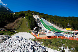Construction of two new ski jumping hills HS 135 and HS 105, on September 18, 2012 in Planica, Slovenia. (Photo By Vid Ponikvar / Sportida)