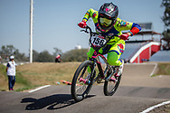 #156 (AZUERO Domenica) ECU  at Round 9 of the 2019 UCI BMX Supercross World Cup in Santiago del Estero, Argentina