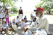6/4/2020 Jackson MS. A group of young protestors age 5 to 12 yrs old gathered outside the Old Mississippi State Capitol to protest the brutal murder of another African American man, George Floyd at the knees and hands of 4 former Minneapolis Minnesota police officers. They then marched past the Governors mansion and into Smith park where they met civil rights icon James Meredith by accident. Meredith then spoke to them about his March Against Fear and showed 5 yr. old called Herrington where he was shot. <br />