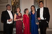 OLLIE FINDLAY; CAROLINE FINDLAY; BUMBLE FINDLAY; ALEXANDRA FINDLEY; ED MATTHEWS, The Royal Caledonian Ball 2016. Grosvenor House. Park Lane, London. 29 April 2016
