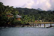 Bom Bom Resort is one of the most exclusive resorts in Africa.It is very famous for its Big Game fishing. The main bungalow area is connected to the restaurant by a bridge. The restaurant is in Bom Bom isle.