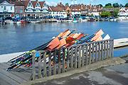 Henley-On-Thames, Berkshire, UK., Wednesday,  19/05/2021,  Oars, Blade Resting,Leander Club[ Mandatory Credit © Peter Spurrier/Intersport Images],