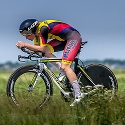 EMMEN (NED) June 16: <br />CYCLING <br />Dutch Nationals Time Trail Women Elite Loes Adegeest