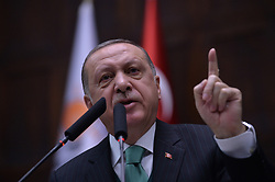February 6, 2018 - Ankara, Turkey - Turkey President and leader of AK Party Recep Tayyip Erdogan, speaks at Turkish Parliamentary. (Credit Image: © Depo Photos via ZUMA Wire)
