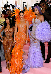 (Left to right) Kim Kardashian-West, Kanye West, Kendall Jenner, Kylie Jenner and Travis Scott attending the Metropolitan Museum of Art Costume Institute Benefit Gala 2019 in New York, USA.