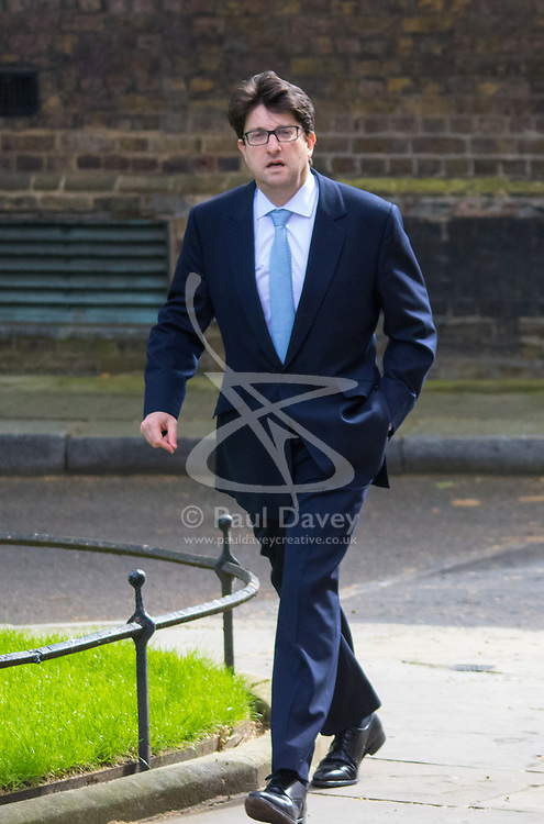 Downing Street, London, May 12th 2015. The all-conservatives Cabinet ministers gather for their first official meeting at Downing Street. PICTURED: Tory Chairman Lord Andrew Feldman