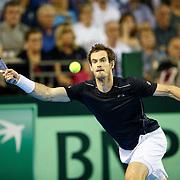 Great Britain v Argentina. Andy Murray v Juan Martin del Potro.  Andy Murray in action. 16/09/16
