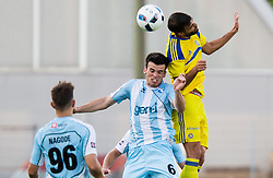 Miha Gregoric of Gorica vs Eden Ben Basat of Maccabi during 2nd Leg football match between ND Gorica and Maccabi Tel Aviv FC (ISR) in First Qualifying Round of UEFA Europa League 2016/17, on July 7, 2016 in Sports park Nova Gorica, Slovenia. Photo by Vid Ponikvar / Sportida