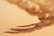 4 Israeli Air force Fouga Magister in aerobatics display
