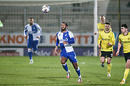Josh Grant of Bristol Rovers (4) with the ball during the EFL Sky Bet League 1 match between Burton Albion and Bristol Rovers at the Pirelli Stadium, Burton upon Trent, England on 2 March 2021.
