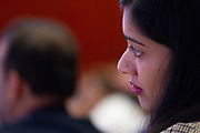 A participant listens during the session: Governance by Design at the World Economic Forum - Annual Meeting of the New Champions in Tianjin, People's Republic of China 2018.Copyright by World Economic Forum / Greg Beadle