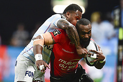 April 8, 2018 - Nanterre, France, France - Semi Radradra Waqavatu (Rc Toulon) vs Virimi Vakatawa  (Credit Image: © Panoramic via ZUMA Press)