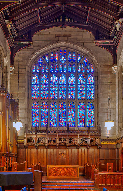 Bond Chapel at the University of Chicago with the Reneker Organ, installation completed by Feb., 2013.