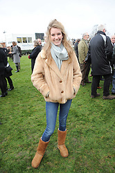 ELLA MAY SANGSTER daughter of Guy Sangster at the Hennessy Gold Cup 2010 at Newbury Racecourse, Berkshire on 27th November 2010.