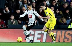 Thomas Ince of Derby County takes on Tom Flanagan of Burton Albion - Mandatory by-line: Robbie Stephenson/JMP - 21/02/2017 - FOOTBALL - iPro Stadium - Derby, England - Derby County v Burton Albion - Sky Bet Championship