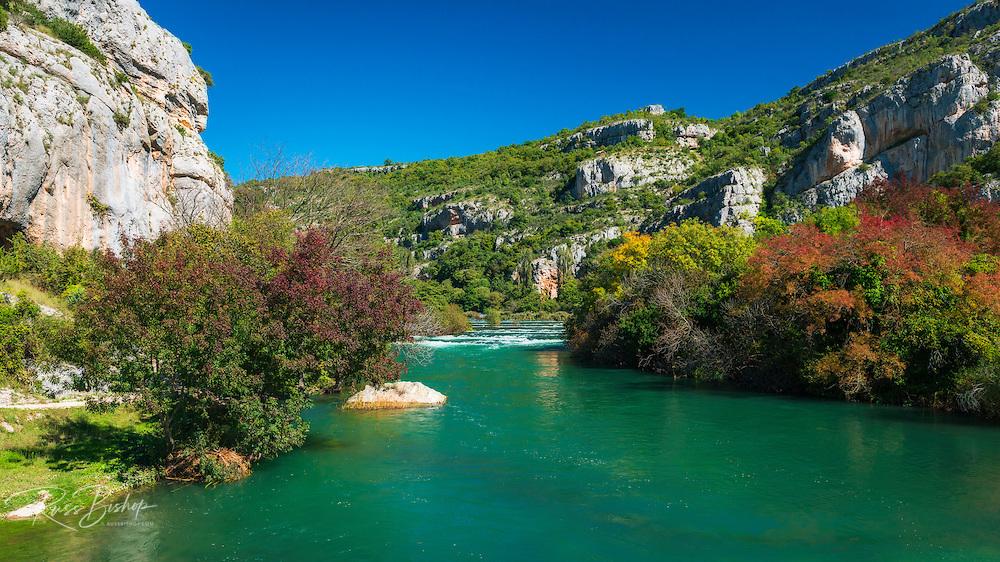 The Kirka River at Roski Slap, Krka National Park, Dalmatia, Croatia