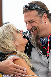 Custom bike builder Randal Noldge at the Flying Piston Builder Breakfast at the Buffalo Chip during the 78th annual Sturgis Motorcycle Rally. Sturgis, SD. USA. Sunday August 5, 2018. Photography ©2018 Michael Lichter.