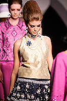 Maryna Linchuk walks the runway  at the Christian Dior Cruise Collection 2008 Fashion Show