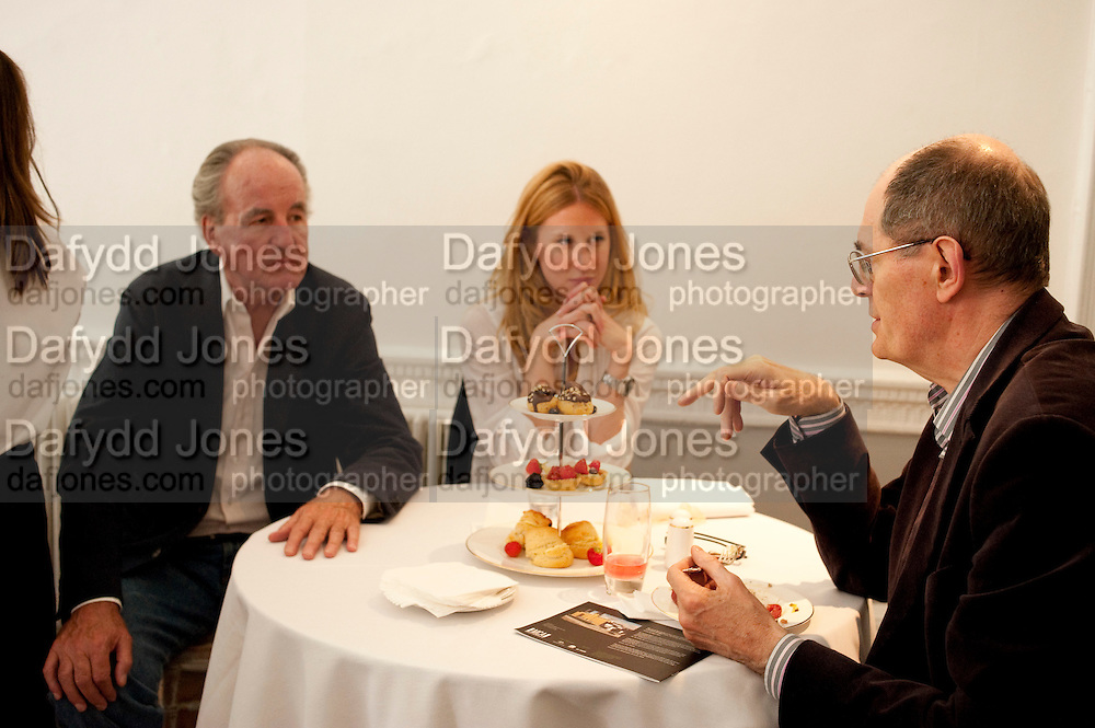 FRANZ VON PERFALL; JOSEPHINE VON PERFALL; SIR RICHARD CORK, Pablo Bronstein, Sketches for Regency Living. Discussion and lunch. ICA. The Mall. London. 7 June 2011. <br /> <br />  , -DO NOT ARCHIVE-© Copyright Photograph by Dafydd Jones. 248 Clapham Rd. London SW9 0PZ. Tel 0207 820 0771. www.dafjones.com.