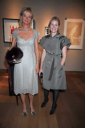 Left to right, the COUNTESS OF DERBY and VISCOUNTESS LINLEY at fundraising dinner and auction in aid of Liver Good Life a charity for people with Hepatitis held at Christies, King Street, London on 16th September 2009.