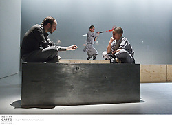 Performers from Sutra rehearse at the St James Theatre, one of the venues in the New Zealand International Arts Festival in Wellington.