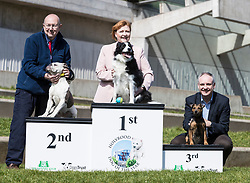 MSPs display their dogs and put them through an agility course with the winner decided by a public vote on the day.<br /> <br /> Pictured: Winning dogs, In first place Emma Harper and her dog Maya, 2nd place Bill Bowman and his Dogs Trust rescue dog Astra and 3rd place Richard Lochead and his dog Cinder