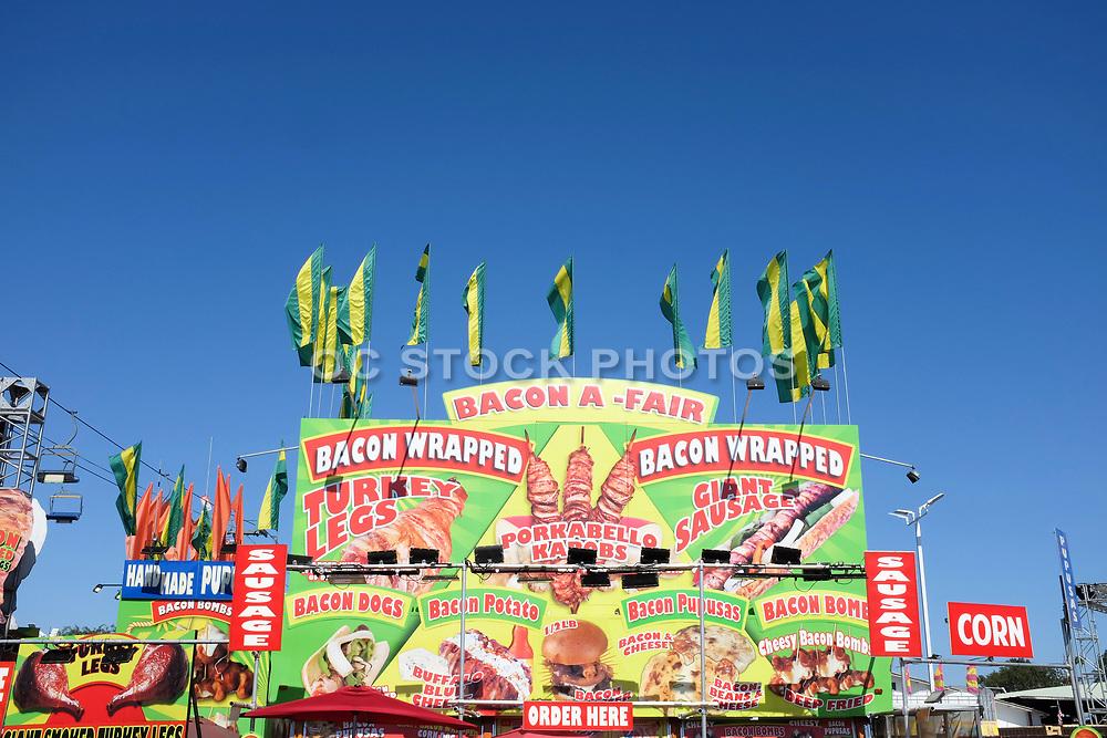 Orange County Fair Food Vendor Sign