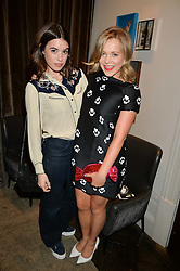 Left to right, GALA GORDON and POPPY JAMIE at the Creme de la Mer Blue Marine Foundation Dinner held at The Arts Club, 40 Dover Street, London on 23rd June 2015.