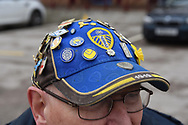 Lees United fans hat during the EFL Sky Bet Championship match between Aston Villa and Leeds United at Villa Park, Birmingham, England on 13 April 2018. Picture by Alan Franklin.