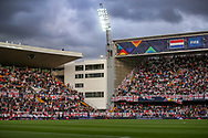 England fans in the stadium ahead of the UEFA Nations League semi-final match between Netherlands and England at Estadio D. Afonso Henriques, Guimaraes, Portugal on 6 June 2019.