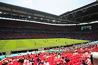 Football - 2021 EUFA European Championships - Finals - Group D - England vs Croatia, Wembley Stadium<br /> <br /> General view of the Stadium with fans spread out in the seats because of COVID<br /> <br /> Credit : COLORSPORT/Andrew Cowie