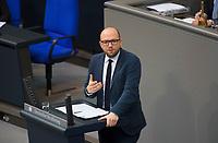 DEU, Deutschland, Germany, Berlin, 31.01.2019: Manuel Sarrazin (B90/Die Grünen) bei einer Rede während einer Plenarsitzung im Deutschen Bundestag.