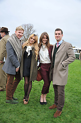 Left to right, HENRY CONWAY, ZARA MARTIN, JADE WILLIAMS at the Hennessy Gold Cup at Newbury Racecourse, Berkshire on 26th November 2011.