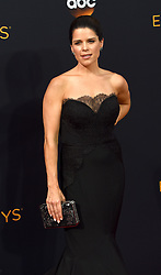 September 18, 2016 - Los Angeles, CA, USA - Neve Campbell arrives at the 68th Annual Emmy Awards at the Microsoft Theater in Los Angeles, California on Sunday, September 18, 2016. (Credit Image: © Michael Owen Baker/Los Angeles Daily News via ZUMA Wire)