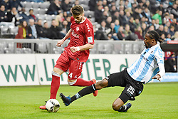 17.03.2017, Allianz Arena, Muenchen, GER, 2. FBL, TSV 1860 Muenchen vs Würzburger Kickers, 25. Runde, im Bild Valdet Rama (FC Wuerzbuger Kickers), Abduoulaye Ba (TSV 1860 Muenchen), v.li. Aktion // during the 2nd German Bundesliga 25th round match between TSV 1860 Muenchen and Würzburger Kickers at the Allianz Arena in Muenchen, Germany on 2017/03/17. EXPA Pictures © 2017, PhotoCredit: EXPA/ Eibner-Pressefoto/ Buthmann<br /> <br /> *****ATTENTION - OUT of GER*****