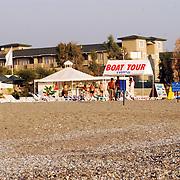 Miss Nederland 2003 reis Turkije, strandtent