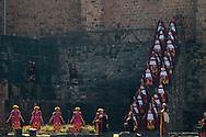 Inti Raymi. Act one. Esplanada of Qoricancha