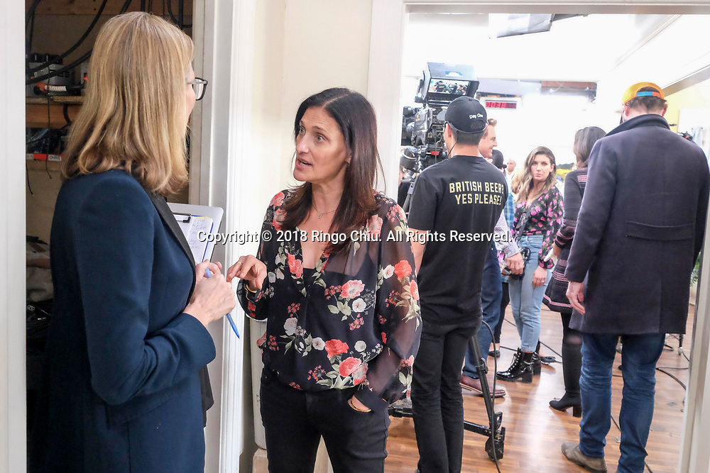"""Producer Tracy Verna of the Hallmark Channel show """"Home & Family"""" in Universal Studio.(Photo by Ringo Chiu)<br /> <br /> Usage Notes: This content is intended for editorial use only. For other uses, additional clearances may be required."""