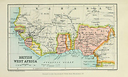 Map of British West Africa From the Book '  Britain across the seas : Africa : a history and description of the British Empire in Africa ' by Johnston, Harry Hamilton, Sir, 1858-1927 Published in 1910 in London by National Society's Depository