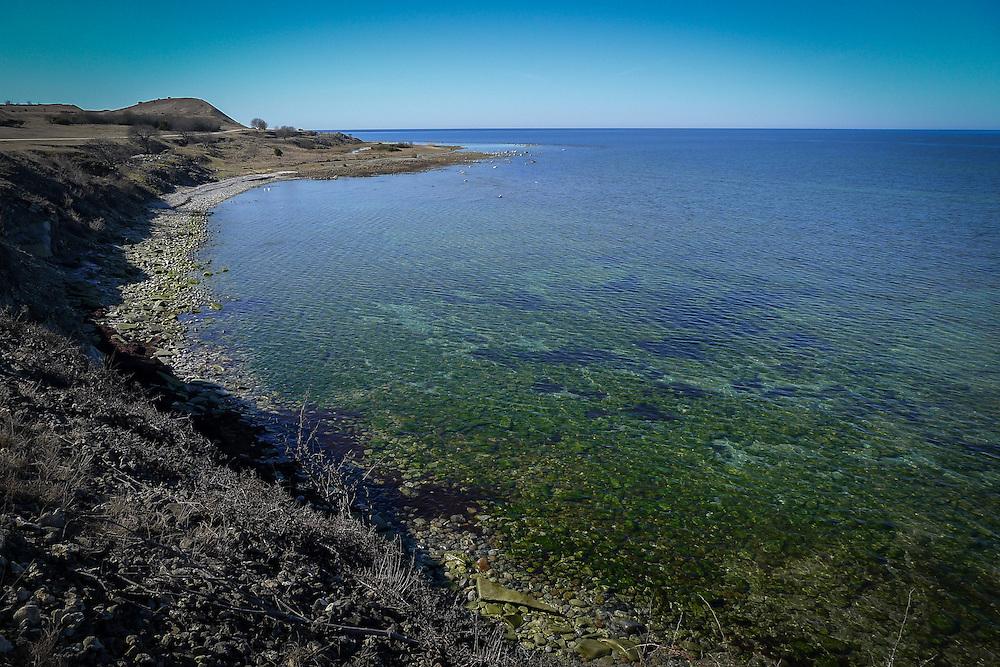 Västsidan av Sudret, södra Gotland ner mot Hoburgen