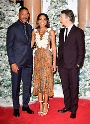 (left-right) Will Smith, Naomie Harris and Edward Norton attending the European premiere of Collateral Beauty, held at the Vue Leicester Square, London.