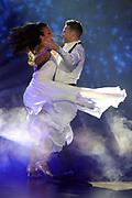 Auftritt von Karina Berger mit ihrem Coach und Tanzpartner Marc Aeschlimann bei der SRF-Tanzshow «Darf ich bitten?» Erste Qualifikationsshow vom 07. März 2020 in den Fernsehstudios Zürich.