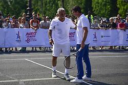 June 23, 2017 - Paris, France, France - Mansour Bahrami et Tony Estanguet - Co President Paris2024 - Tennis sur Le Pont Alexandre III (Credit Image: © Panoramic via ZUMA Press)