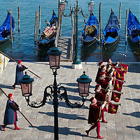 VENICE, ITALY - JUNE 12:  The Historical Pageant in front of Palazzo Ducale ahead of the Regatta of the Ancient Maritime Republics on June 12, 2011 in Venice, Italy. The idea of the Regatta of the Ancient Maritime Republics was realized in 1955 and the first edition took place in Genova.